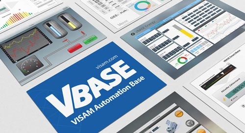 VBASE 11 with function blocks for easy HMI SCADA MES editing.