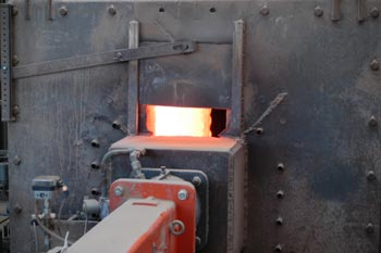 Drum furnace for drying the raw material.