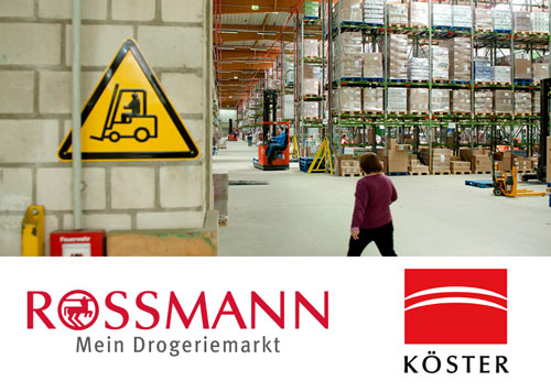 Rossmann Logistikzentrum in Malsfeld.
